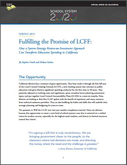 Fulfilling the Promise of LCFF