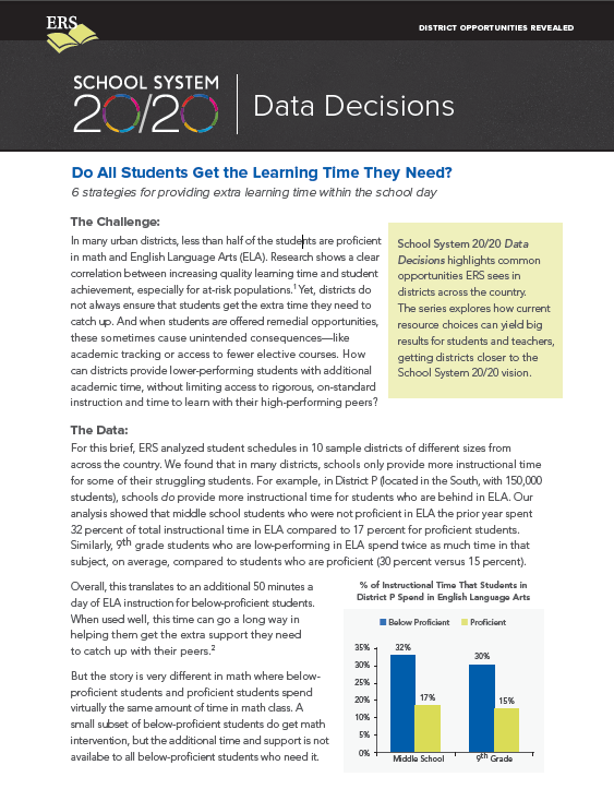 Data Decisions Brief #5: Do All Students Get the Learning Time They Need?