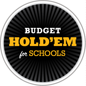 Budget Hold'em for Schools, round logo