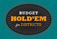 Hold'em for Districts logo on green background