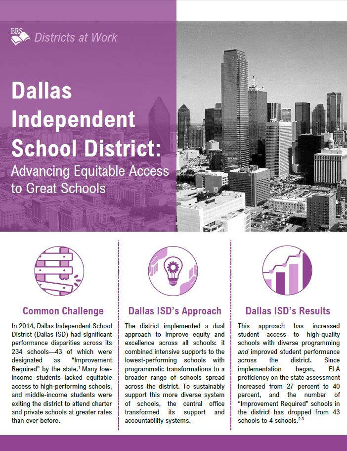 Dallas Independent School District: Advancing Equitable Access to Great Schools