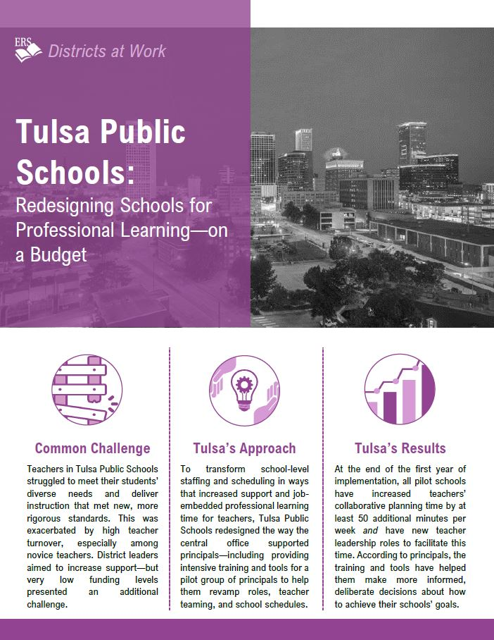 Tulsa Public Schools: Redesigning Schools for Professional Learning–On a Budget